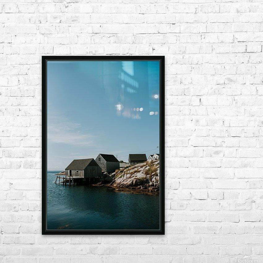 Peggys Cove Nova Scotia HD sublimation métal imprimé avec décoration flotteur cadre (boîte)