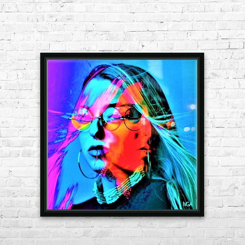 Mystery Girl - by Neil Gairn Adams HD Sublimation Metal print with Decorating Float Frame (BOX)