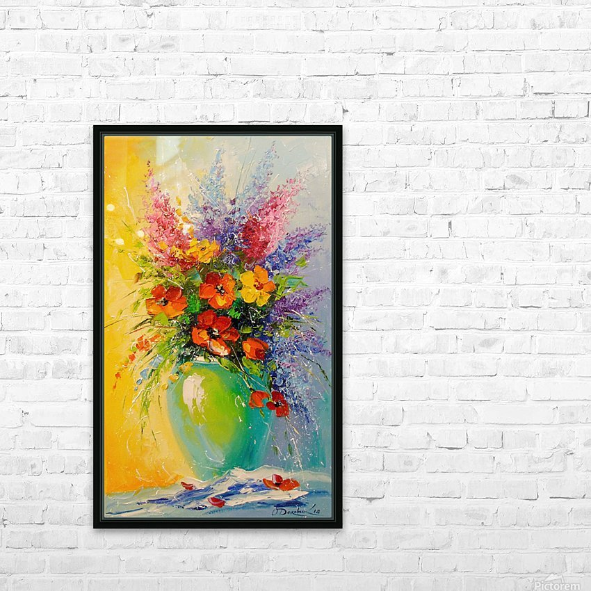 A bouquet of meadow flowers HD Sublimation Metal print with Decorating Float Frame (BOX)