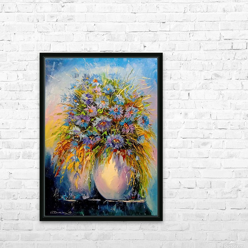 A bouquet of blue flowers HD Sublimation Metal print with Decorating Float Frame (BOX)