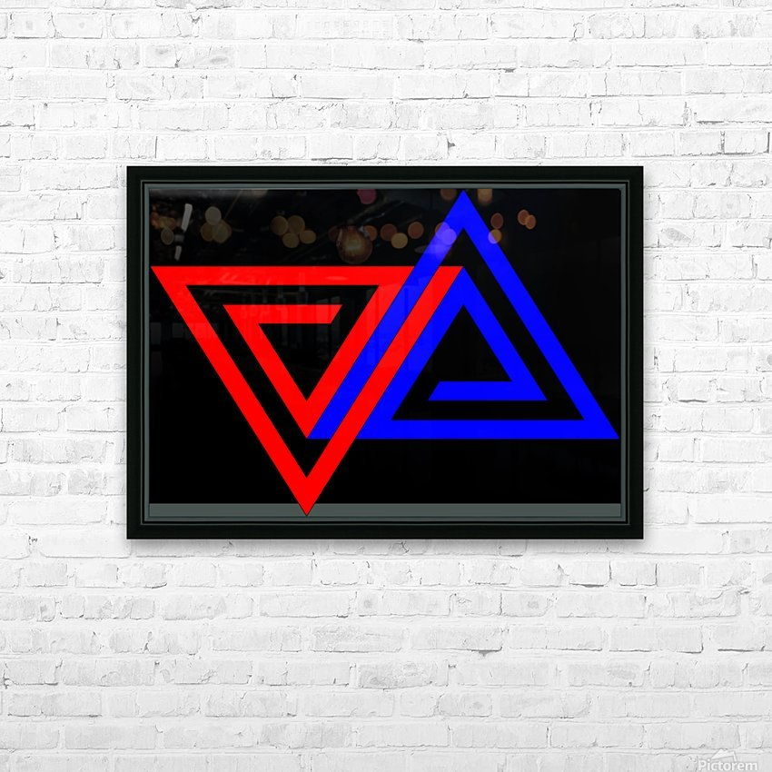 Halimessa - connected triangles HD Sublimation Metal print with Decorating Float Frame (BOX)