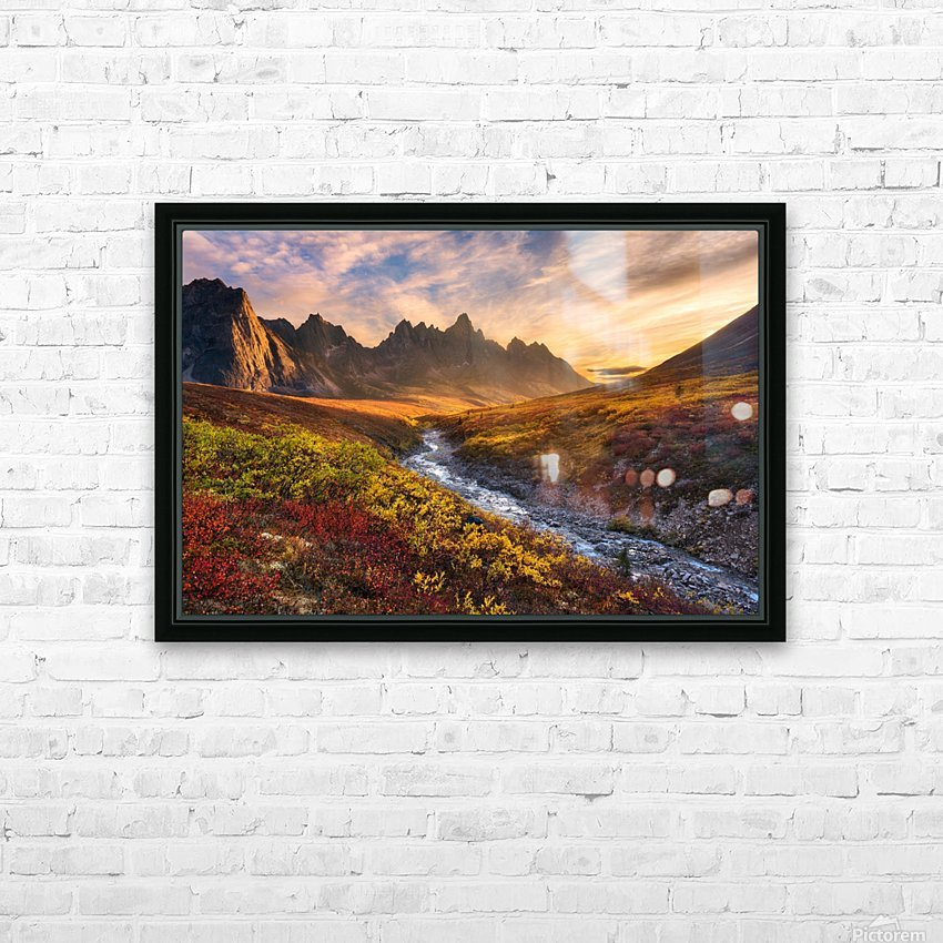 Mountain Paradise HD Sublimation Metal print with Decorating Float Frame (BOX)
