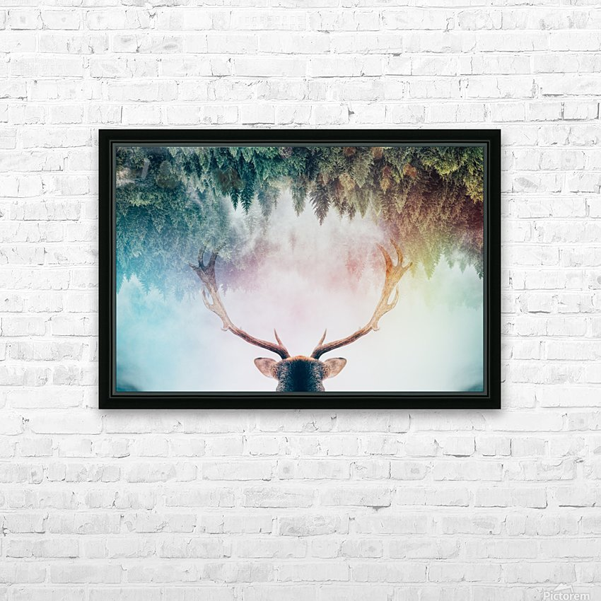 Antler HD Sublimation Metal print with Decorating Float Frame (BOX)