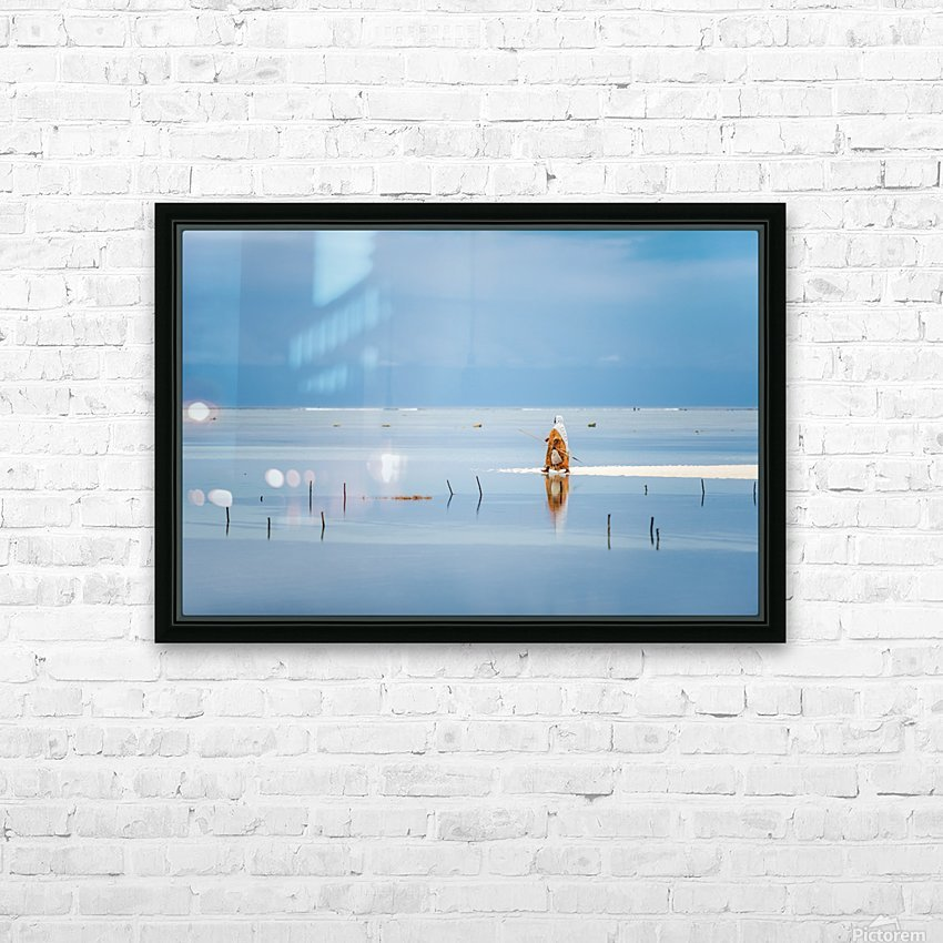 Low tide HD Sublimation Metal print with Decorating Float Frame (BOX)