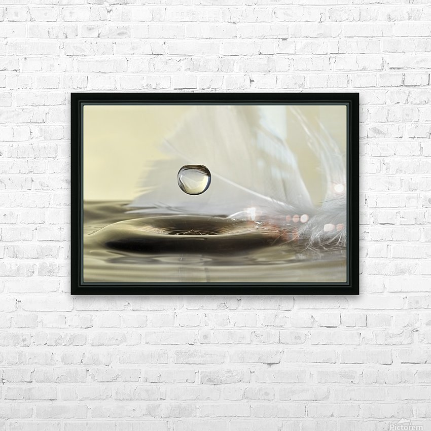 Feathers drop HD Sublimation Metal print with Decorating Float Frame (BOX)