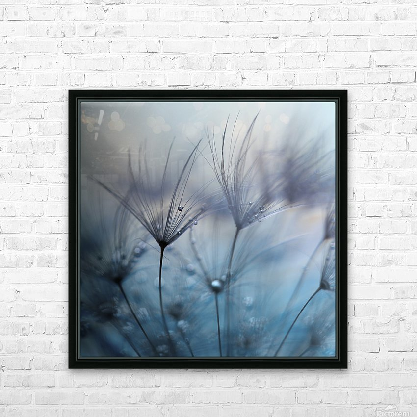 Teardrops HD Sublimation Metal print with Decorating Float Frame (BOX)