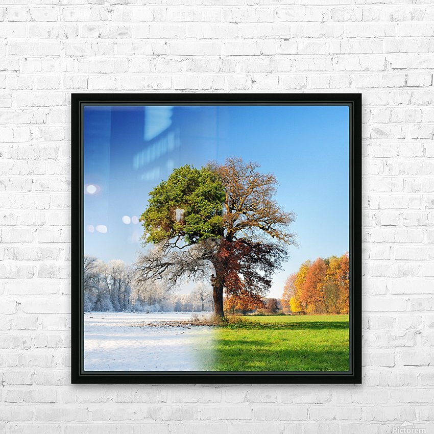 4 seasons HD Sublimation Metal print with Decorating Float Frame (BOX)
