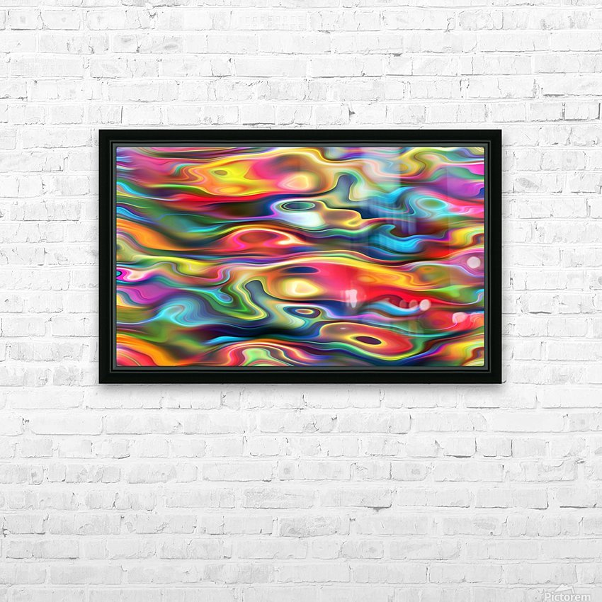 Abstract Colorful Waves HD Sublimation Metal print with Decorating Float Frame (BOX)
