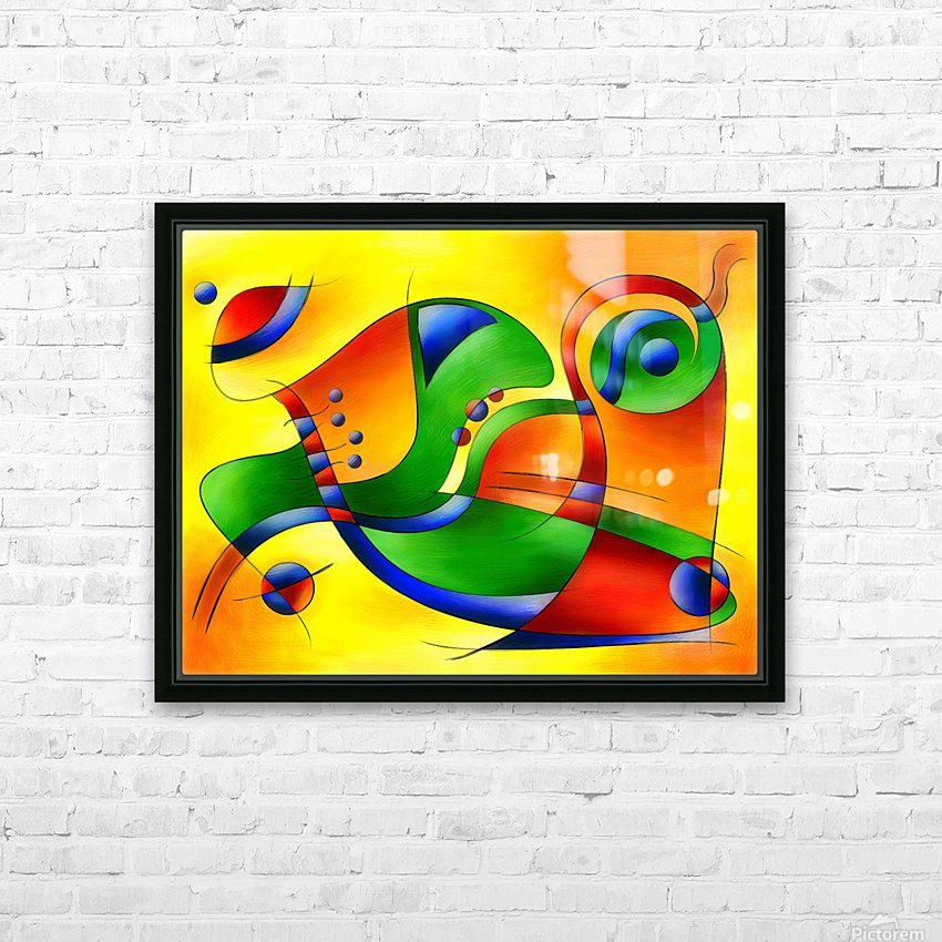 Antaressa - colourful world HD Sublimation Metal print with Decorating Float Frame (BOX)