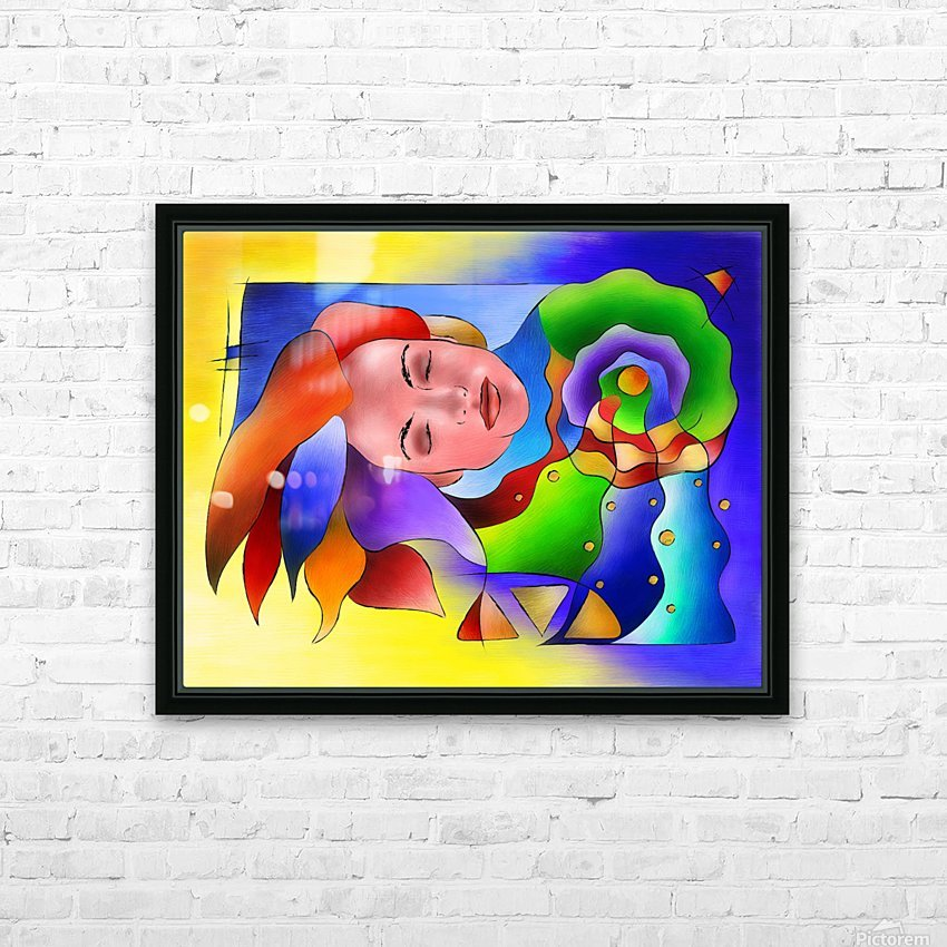 Fasettonia - colourful spirit HD Sublimation Metal print with Decorating Float Frame (BOX)
