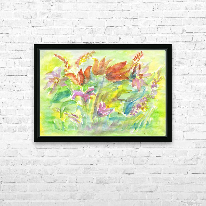 Flowers in the sunny meadow HD Sublimation Metal print with Decorating Float Frame (BOX)