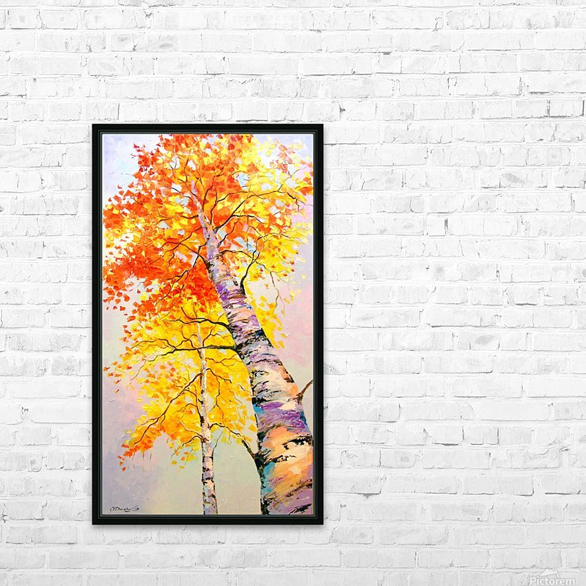 Heavenly birches HD Sublimation Metal print with Decorating Float Frame (BOX)