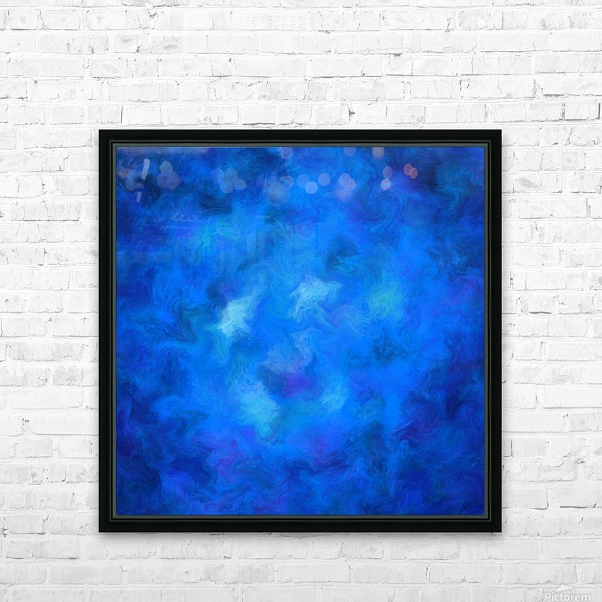 Denitamessa - deep blue world HD Sublimation Metal print with Decorating Float Frame (BOX)