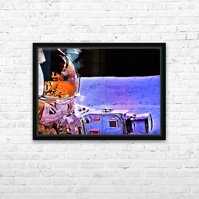Historic Photography on the Moon - by Neil Gairn Adams HD Sublimation Metal print with Decorating Float Frame (BOX)