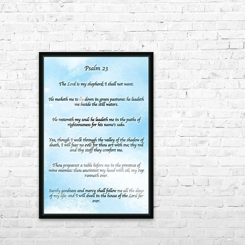 Psalm 23 Clouds HD Sublimation Metal print with Decorating Float Frame (BOX)