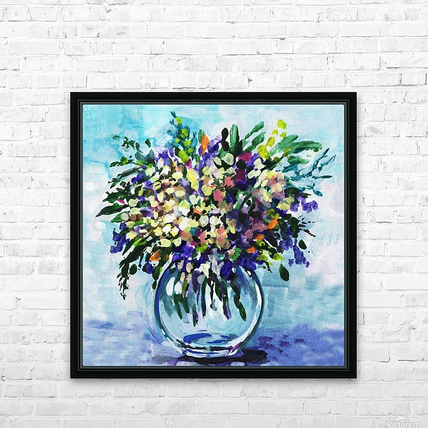 Impressionistic Flowers Burst Of Beauty HD Sublimation Metal print with Decorating Float Frame (BOX)