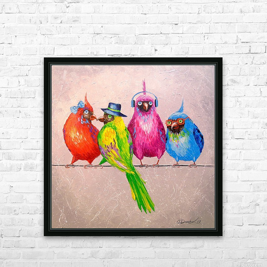 Cheerful company HD Sublimation Metal print with Decorating Float Frame (BOX)