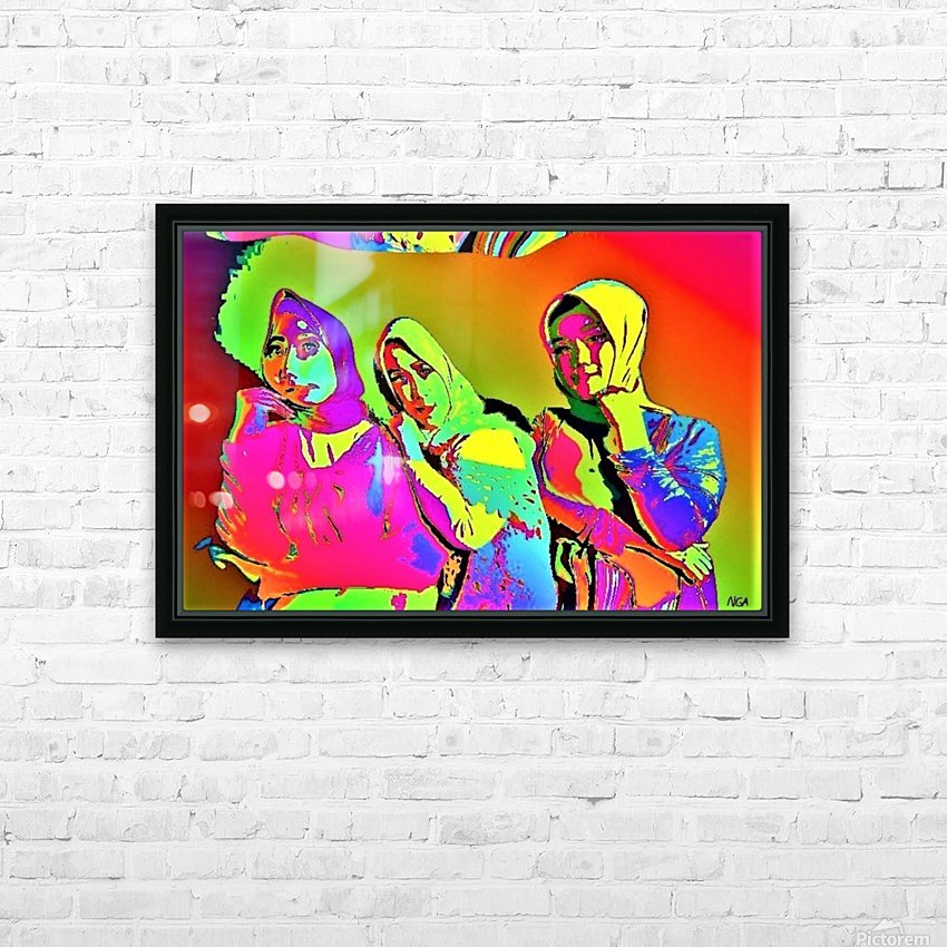 Three Friends - by Neil Gairn Adams HD Sublimation Metal print with Decorating Float Frame (BOX)