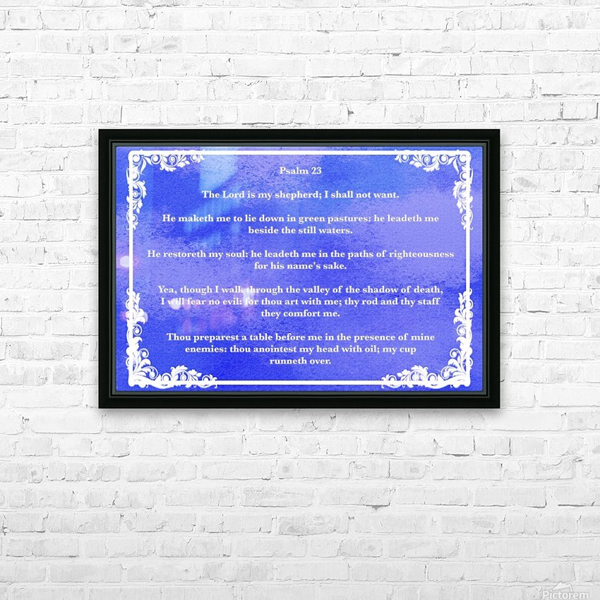 Psalm 23 9BL HD Sublimation Metal print with Decorating Float Frame (BOX)