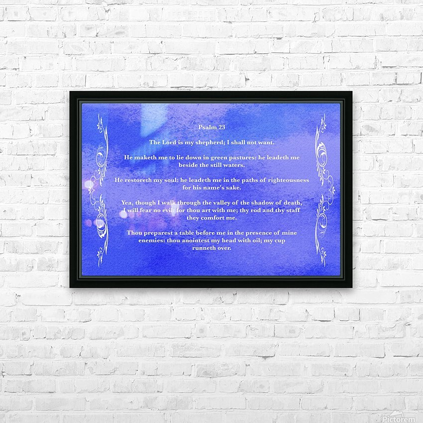 Psalm 23 4BL HD Sublimation Metal print with Decorating Float Frame (BOX)