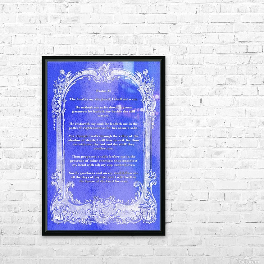 Psalm 23 7BL HD Sublimation Metal print with Decorating Float Frame (BOX)