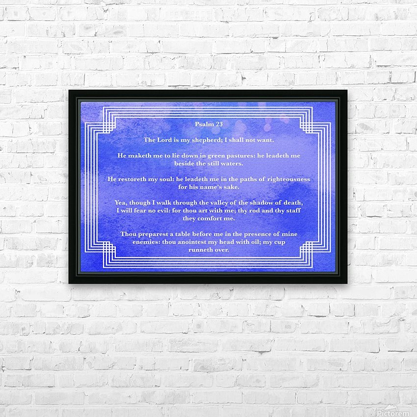 Psalm 23 2BL_1547777687.78 HD Sublimation Metal print with Decorating Float Frame (BOX)