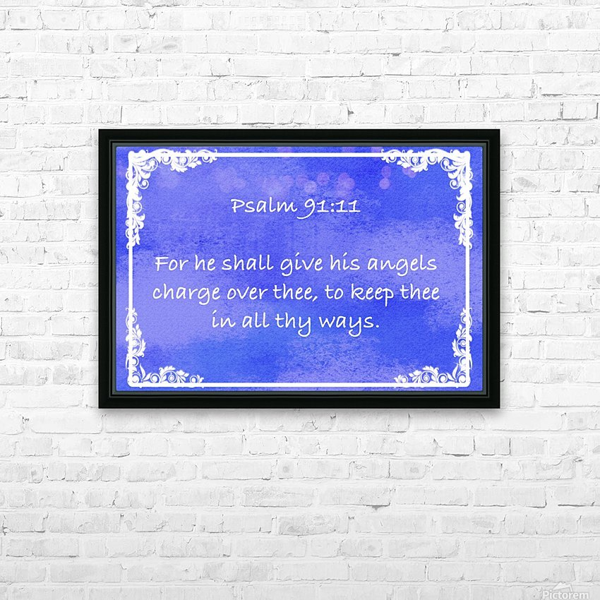 Psalm 91 11 8BL HD Sublimation Metal print with Decorating Float Frame (BOX)
