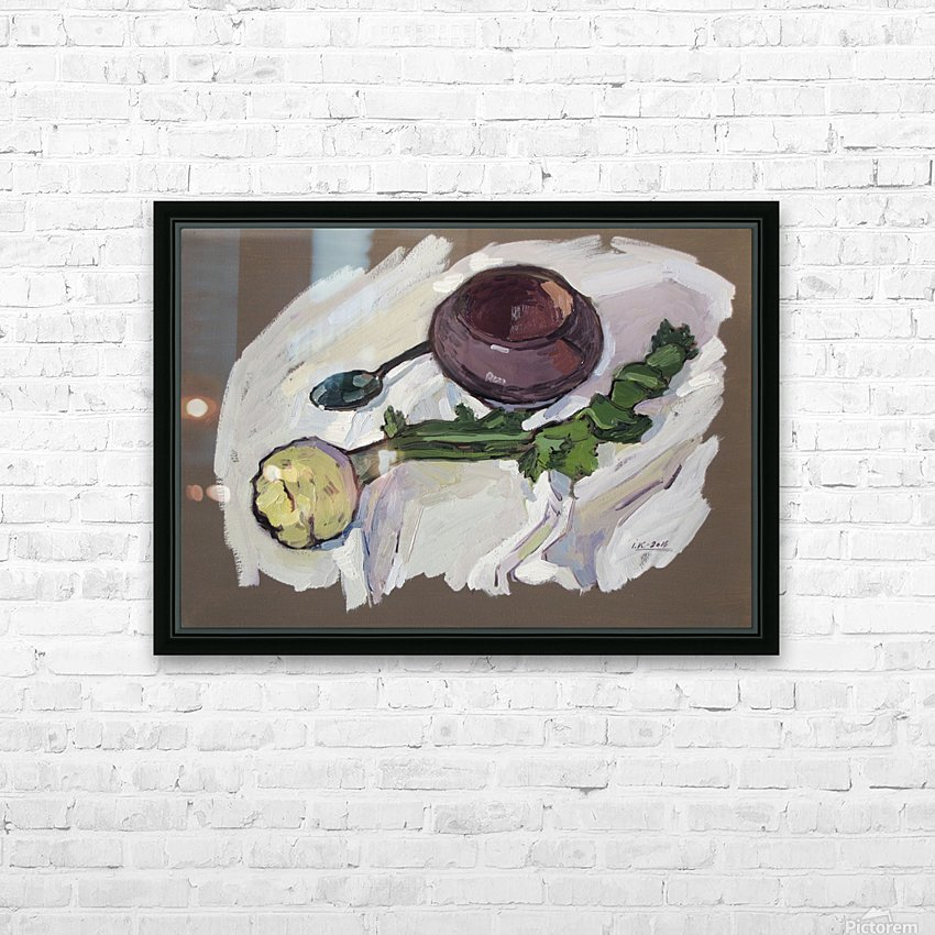 Still Life with Celery HD Sublimation Metal print with Decorating Float Frame (BOX)