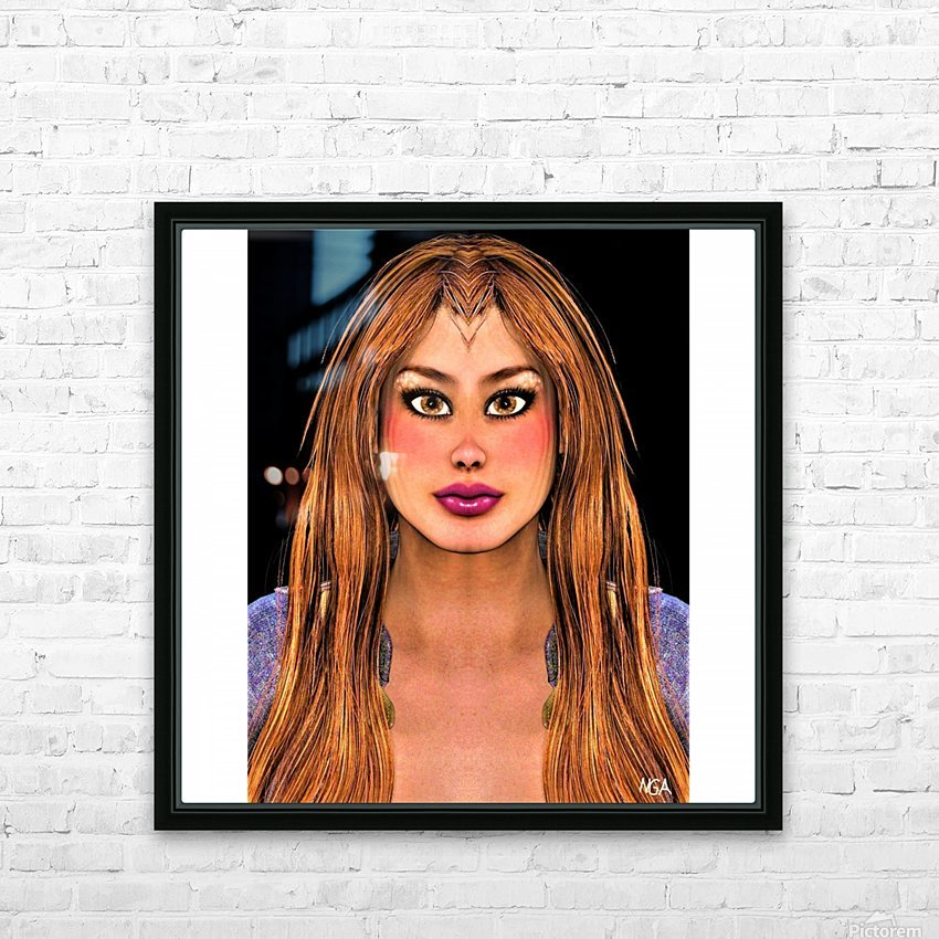 Brown Eyes - square format with with blank side border by Neil Gairn Adams HD Sublimation Metal print with Decorating Float Frame (BOX)