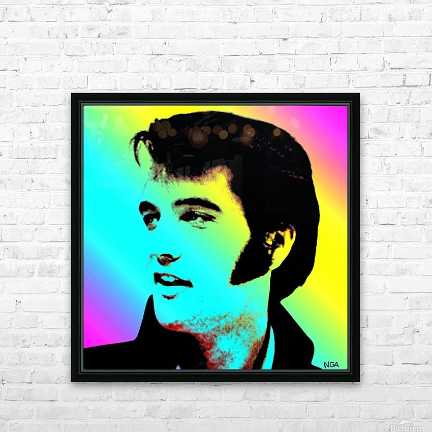 Elvis Presley -  by Neil Gairn Adams HD Sublimation Metal print with Decorating Float Frame (BOX)