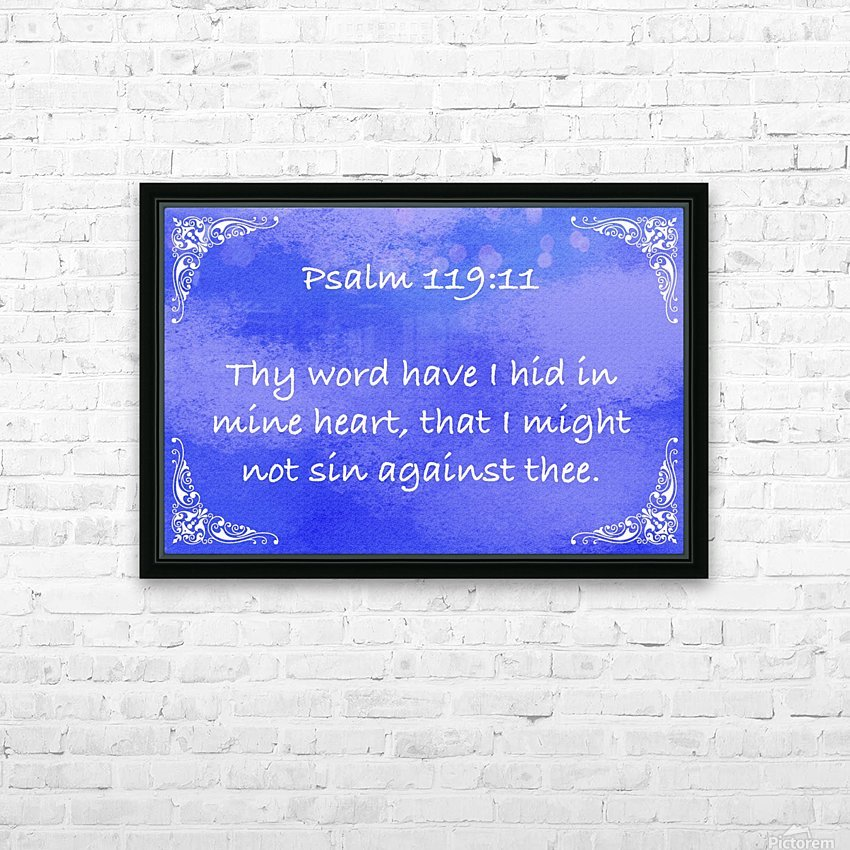 Psalm 119 11 5BL HD Sublimation Metal print with Decorating Float Frame (BOX)