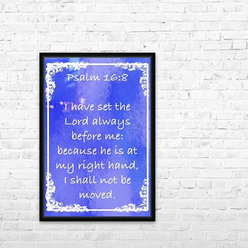 Psalm 16 8 8BL HD Sublimation Metal print with Decorating Float Frame (BOX)