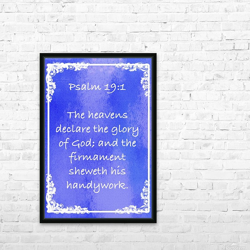 Psalm 19 1 8BL HD Sublimation Metal print with Decorating Float Frame (BOX)