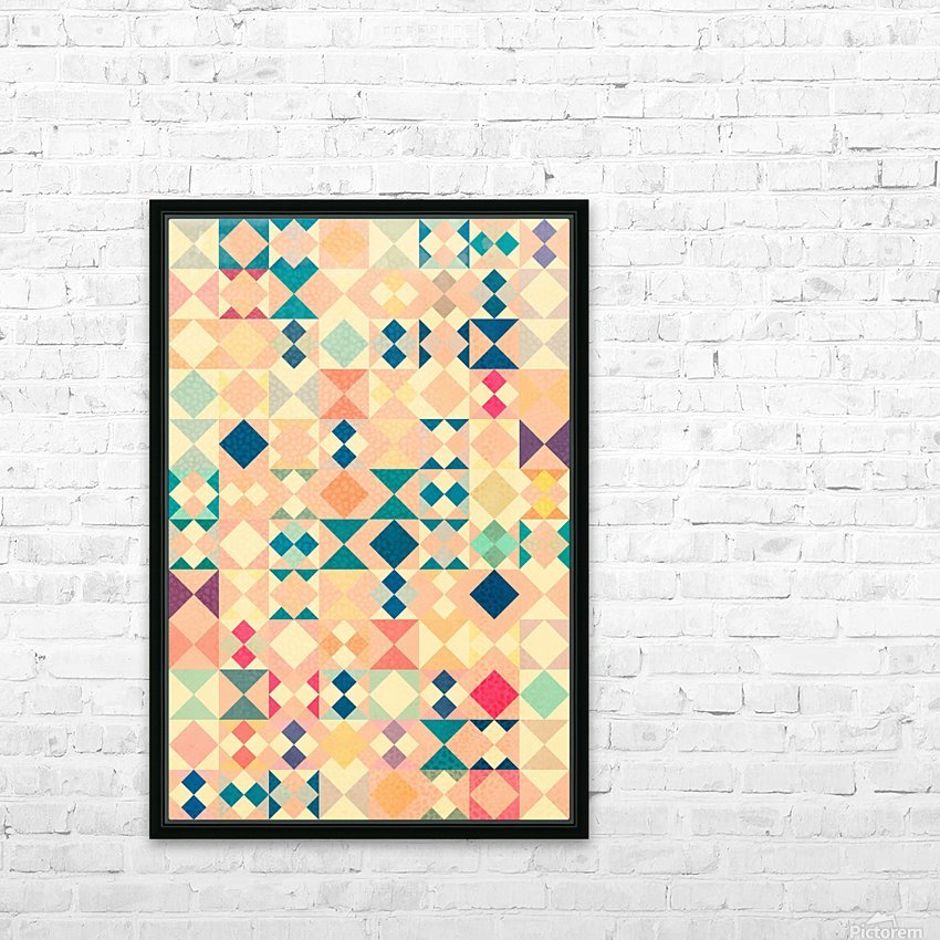 VIVID PATTERN IV HD Sublimation Metal print with Decorating Float Frame (BOX)