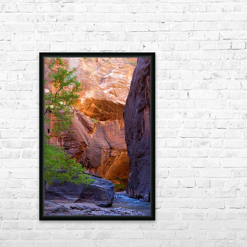 The Narrows HD Sublimation Metal print with Decorating Float Frame (BOX)