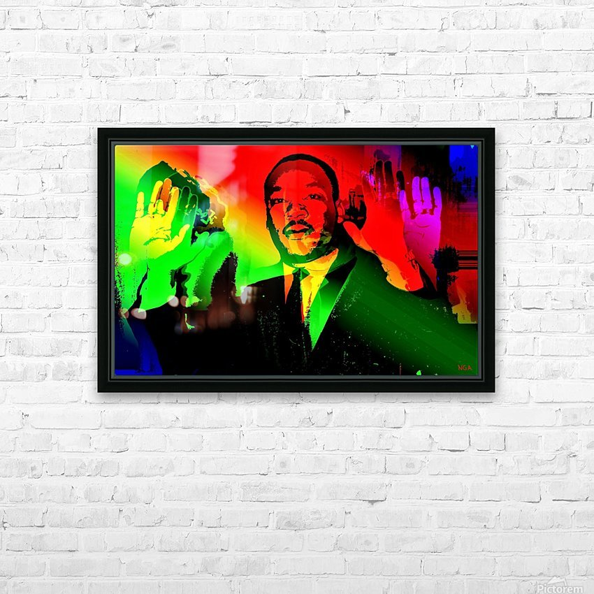 Martin Luther King - Dont Shoot - by Neil Gairn Adams HD Sublimation Metal print with Decorating Float Frame (BOX)