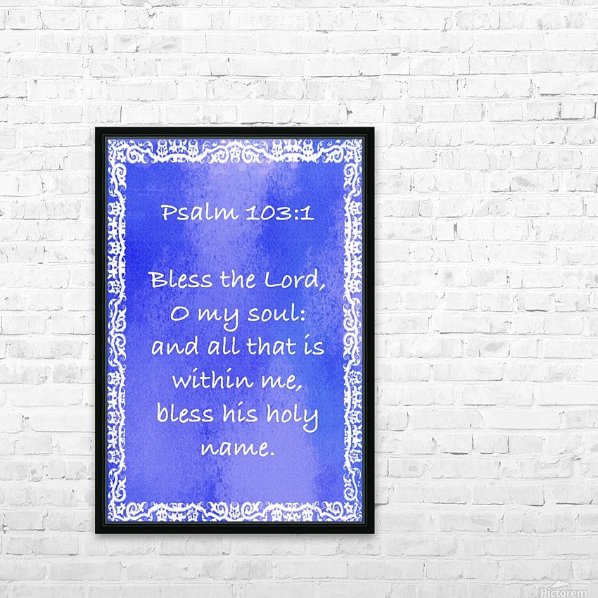 Psalm 103 1 10BL HD Sublimation Metal print with Decorating Float Frame (BOX)