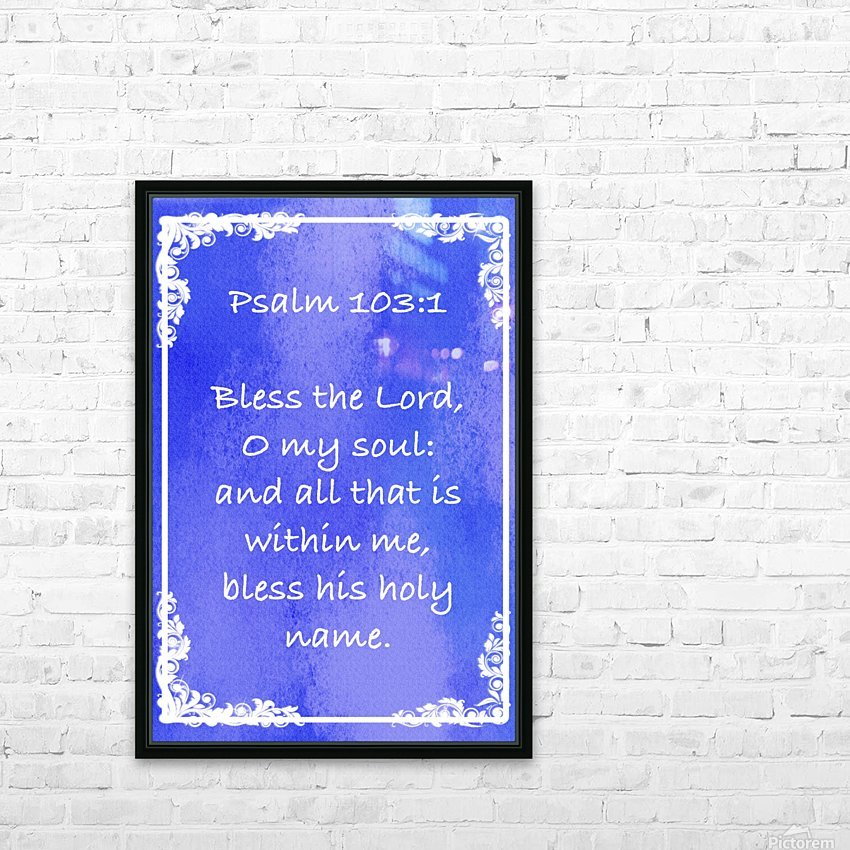 Psalm 103 1 8BL HD Sublimation Metal print with Decorating Float Frame (BOX)