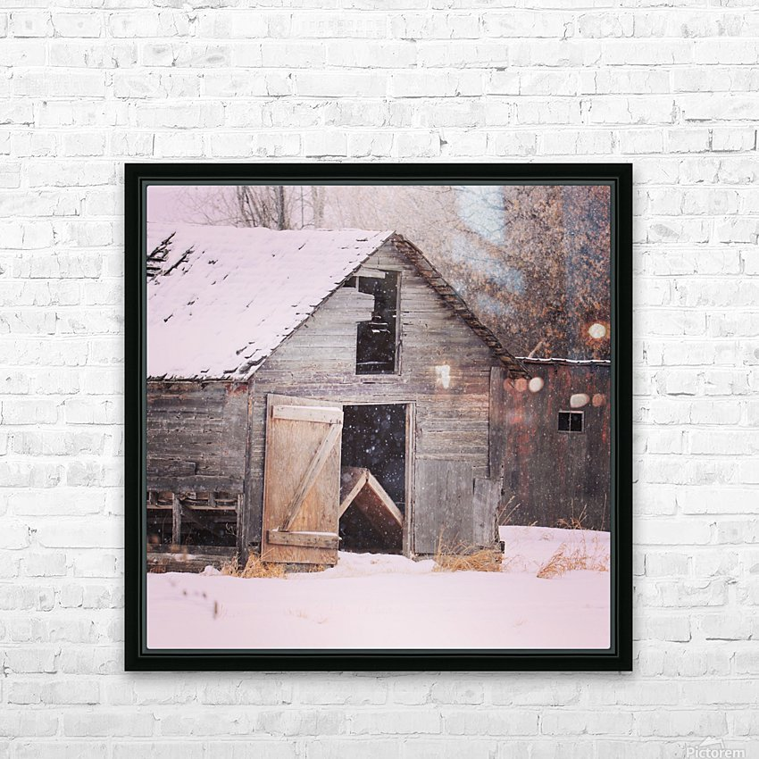 Barnboard HD Sublimation Metal print with Decorating Float Frame (BOX)