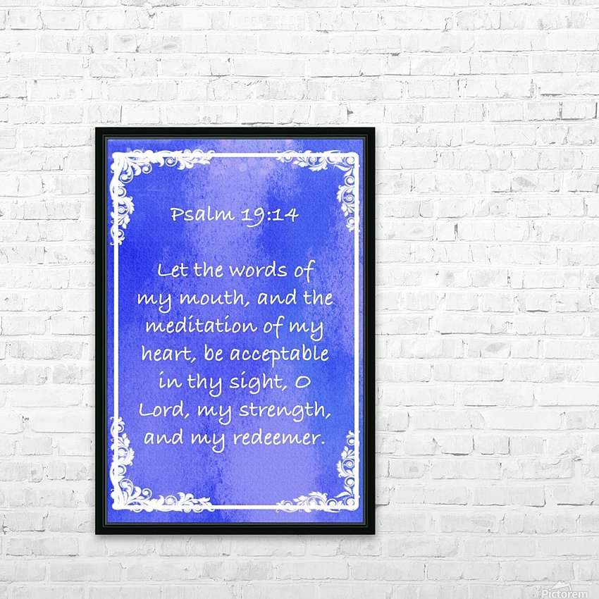 Psalm 19 14 8BL HD Sublimation Metal print with Decorating Float Frame (BOX)