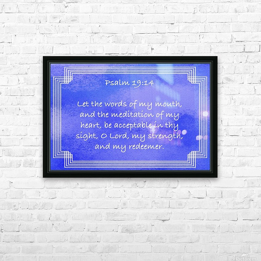 Psalm 19 14 2BL HD Sublimation Metal print with Decorating Float Frame (BOX)