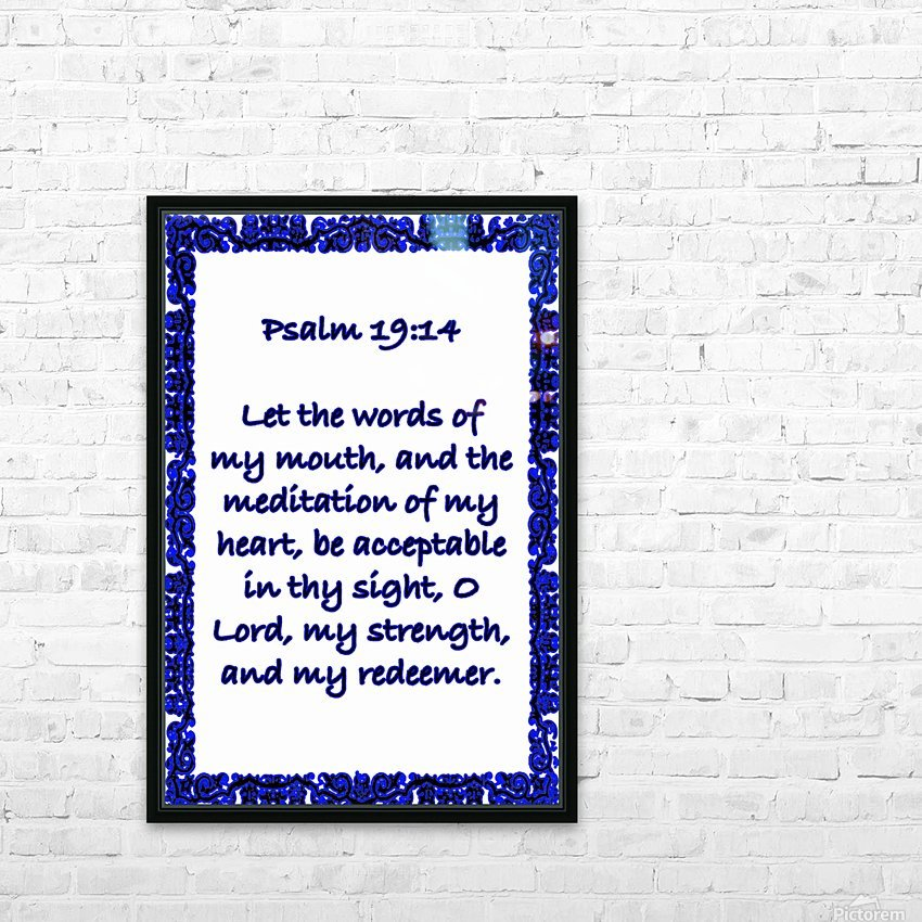Psalm 19 14 10WBL HD Sublimation Metal print with Decorating Float Frame (BOX)