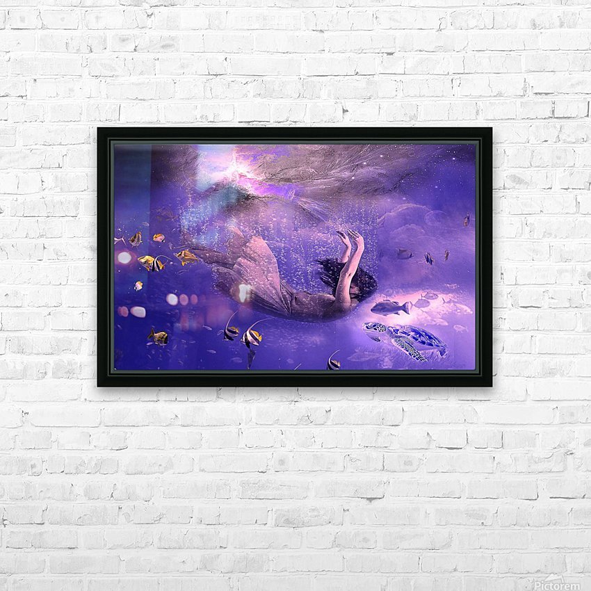 Deep relax HD Sublimation Metal print with Decorating Float Frame (BOX)