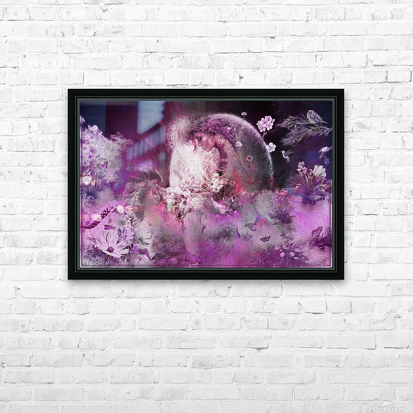 free your mind lady HD Sublimation Metal print with Decorating Float Frame (BOX)