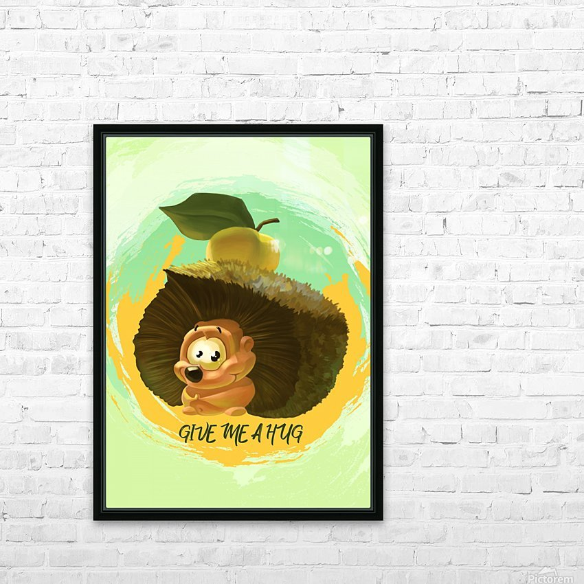 Cute Hedgehog HD Sublimation Metal print with Decorating Float Frame (BOX)