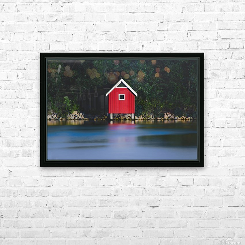 The red house HD Sublimation Metal print with Decorating Float Frame (BOX)