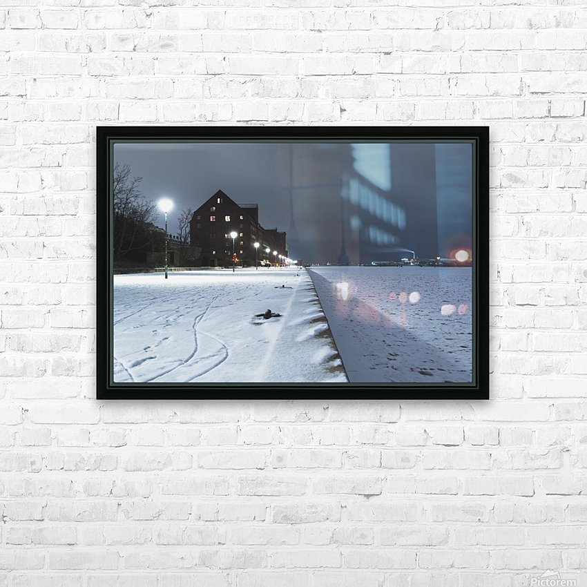 Forzen canal in Copenhagen HD Sublimation Metal print with Decorating Float Frame (BOX)