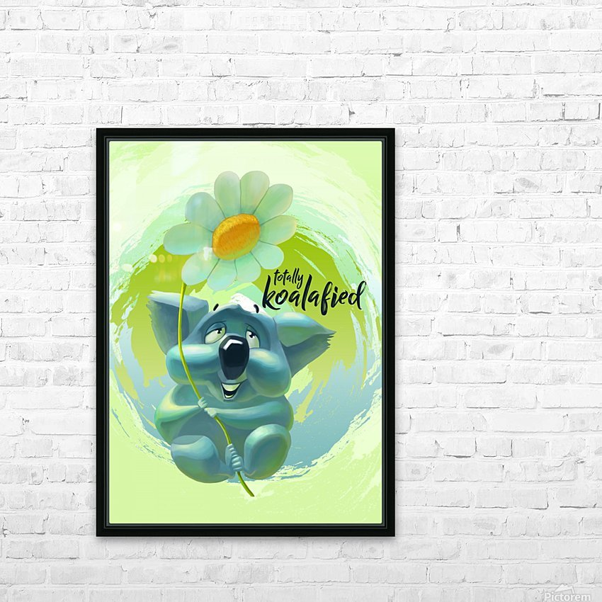 Cute Koala HD Sublimation Metal print with Decorating Float Frame (BOX)