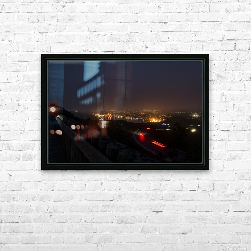 Night Scene from Signal Hill 7 HD Sublimation Metal print with Decorating Float Frame (BOX)