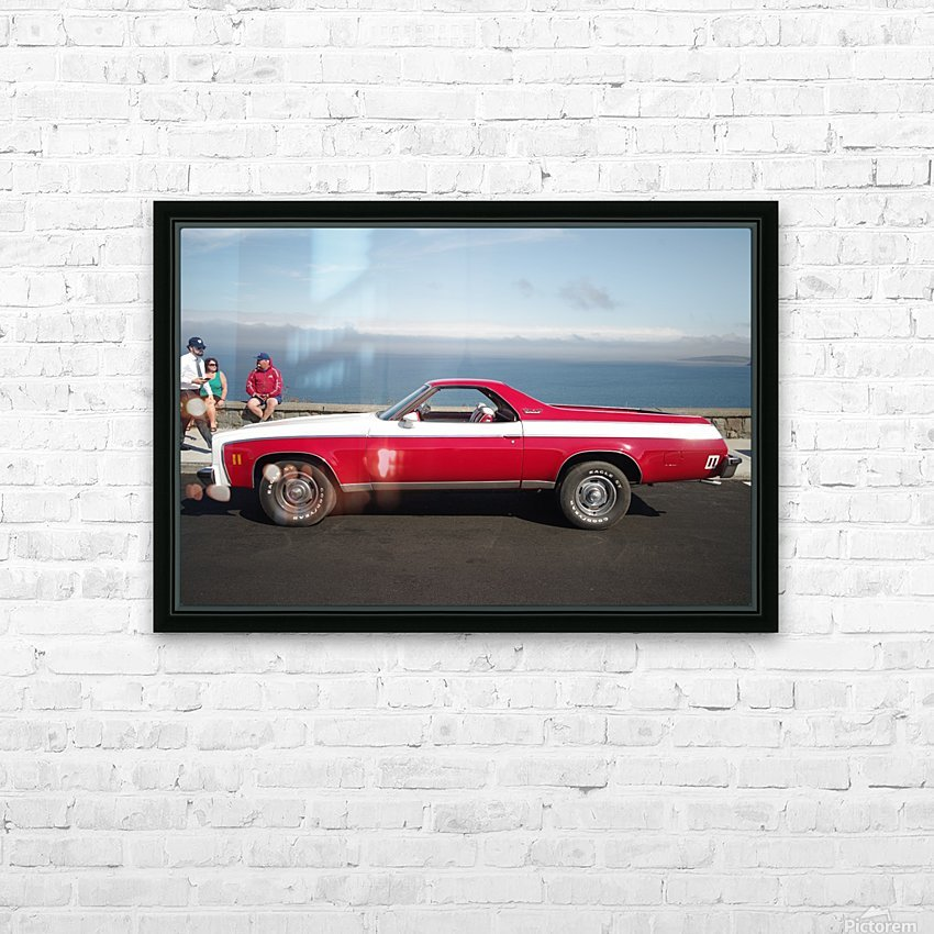 GMC Sprint Utility Pickup coupe combo HD Sublimation Metal print with Decorating Float Frame (BOX)